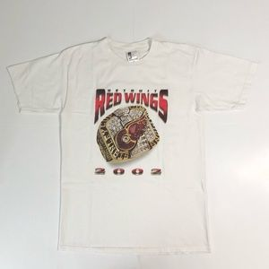 VINTAGE 2002 DETROIT RED WINGS STANLEY CUP T-SHIRT